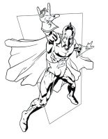Dr. Fate B and W by hawk5