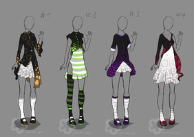 Fancy Glowing Dress Designs - sold by Nahemii-san