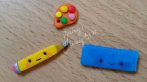 Cute Stationaries + Tiny Painting Palette by SunnyShines