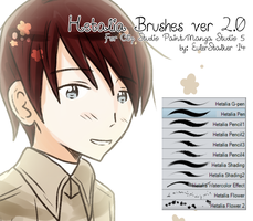+ Hetalia Brushes ver 2.0 | For MS5/CSP + by Serket-XXI
