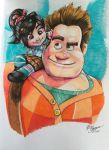 Wreck-It Ralph and Vanellope von Schweetz by banhbao91