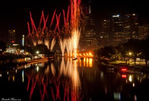Moomba Fireworks Cityscape by DanielleMiner