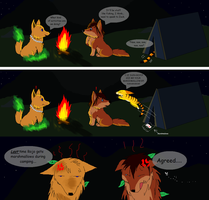 .:RQ:. Short Comic: Camping by ScottishRedWolf