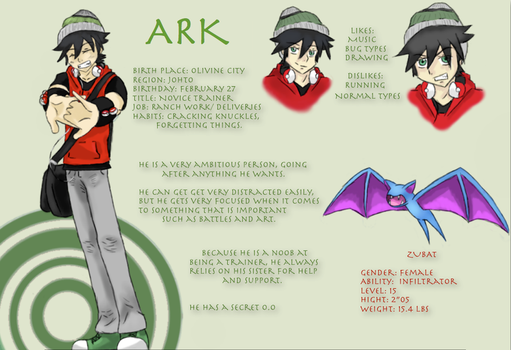 Day 13: Trainer Ark profile by Arkluden