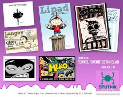 my comics available at SPUTNIK by Dinuguan