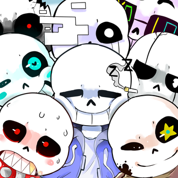 Sans everywhere -COLORED- by RandomColorNice
