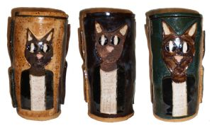 Cat People Pot by aberrantceramics
