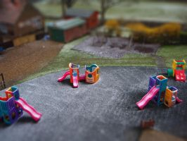 Tilt-shift: English Playground by honouraryweasley