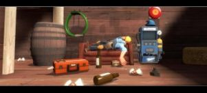 TF2 Engie Drunk on Duty by swarfega