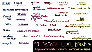 Random Text Brushes 013 by H0shii