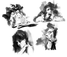 4 little sketches by leventep