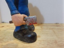 Jason Voorhees Roy close-up of cleaver Potatohead by Potatoheadmaster
