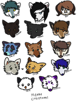 xmas chibfaces cont. by raw