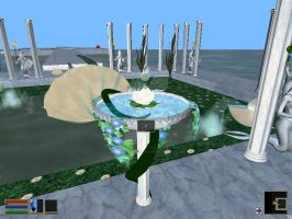 One of the bird bath switches for this level... by elvenphilosophy