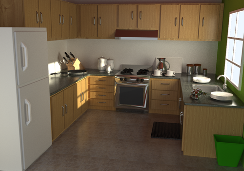 Blender Yafaray Kitchen by bryansvt92