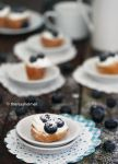 Bite-Size Blueberry Cream Puffs by theresahelmer