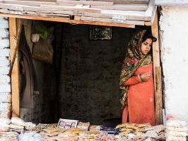 Girl In The Shop Window by InayatShah