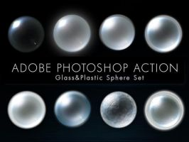 Glass and Plastic Sphere Set by MotanelTutorials