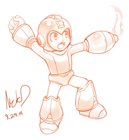 9.29 Mega Man by hybridmink
