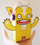 Gordy Paper Toy by creaturekebab