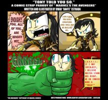 D91 AVENGERS PARODY: Tony Told You So by Dante91