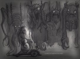 Hanging Monsters-sketch by AlexRuizArt