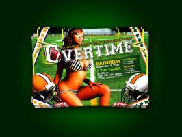 Overtime party flyer by artofmarc