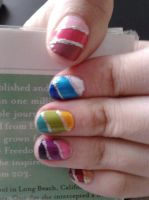 sort-of ombre? nail art by LasManiaticas