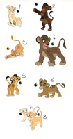 lion cub adoption by BeeStarART