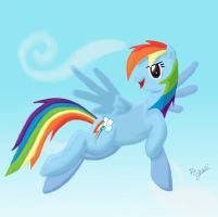 Flying Rainbow Dash by Pegasi-pony