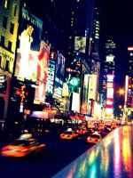 Times Square Never Sleeps by liltledolphin