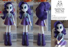 Equestria Girls Rarity Plush by JanellesPlushies