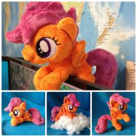 Scootaloo Plush Handmade Custom My Little Pony by RufousCat