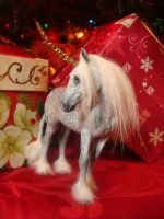 Dapple Gray Unicorn Mare__xmas by Ethereal-Beings