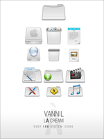 VannillA Cream Icon Set -mac- by djnjpendragon