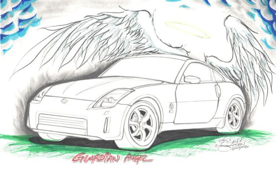 Nissan 350Z - Guardian Angel by aleksitanninen