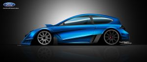 Ford Focus RS ld side view by RibaDesign