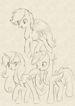 Old Cutie Mark Crusaders by hikariviny