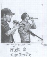 singing Mike and Chester by madebyDun
