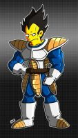 Simpson Vegeta by AngelCrusher