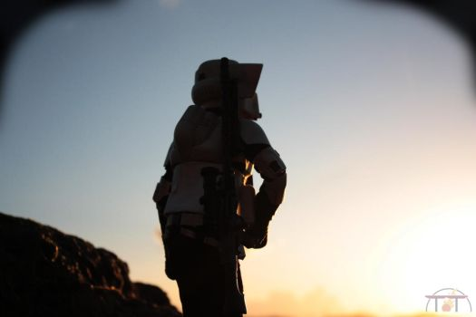 Sunset. Scout Trooper figure 1/6 Scale by TerritoryTunguska