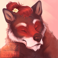 scruffy woof [portrait commission] by VCR-WOLFE