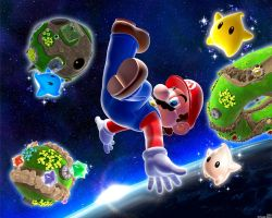 Mario And Planets Sq Wallpaper by DJcube