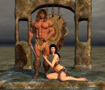 Warrior with wife by Catweazle01