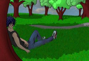 relaxing in the park by kazary