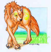 .::Half Okami_Earth::. by WhiteSpiritWolf