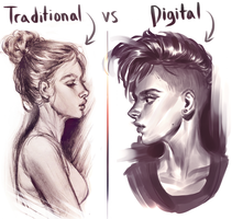 Quick traditional/digital comparison by Vetyr