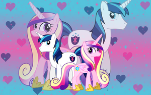 Cadence-Shining Armor Wallpaper by animegirl1429