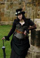 Steamgoth at whitby abbey by LittleMissMetamorph