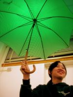 green umbrella by letsflykites
